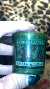 Balsam & Cedar votive